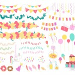 126941755-vector-collection-of-flat-decor-elements-for-kids-birthday-party-balloons-garlands-gift-box-candy-pi
